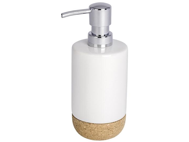 Dozownik do mydła w płynie, żelu CORC WHITE, WENKO Dozowniki ceramika Styl klasyczny