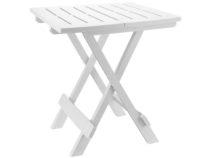 Składany stolik campingowy ADIGE - kolor biały Kształt blatu Kwadratowy