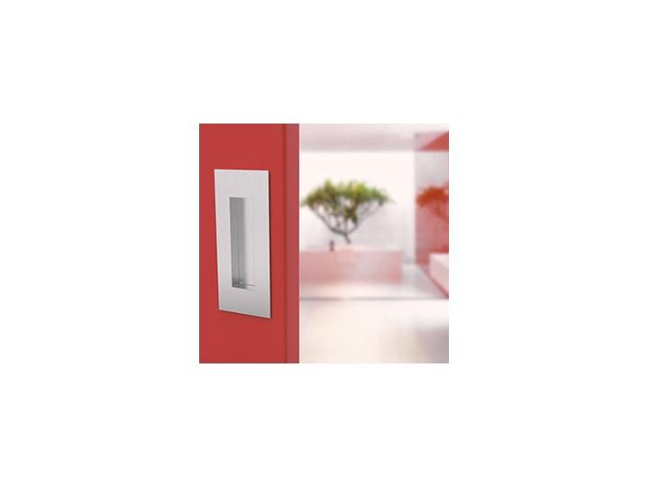 Kwadratowy uchwyt do drzwi przesuwnych - wpuszczany, stal nierdzewna płyta MDF drewno metal