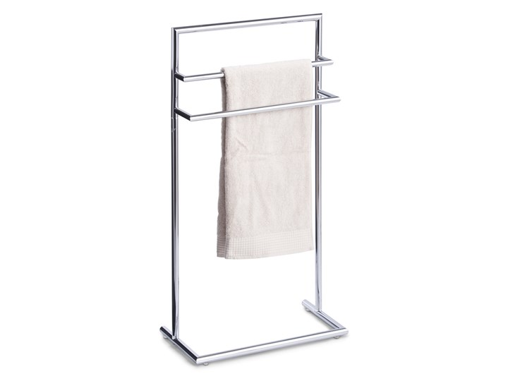 Stojak łazienkowy, wieszak na ręczniki, 3 ramienny, metal chromowany,  ZELLER Wolnostojący Potrójny Wieszaki na ręczniki kamień Styl nowoczesny