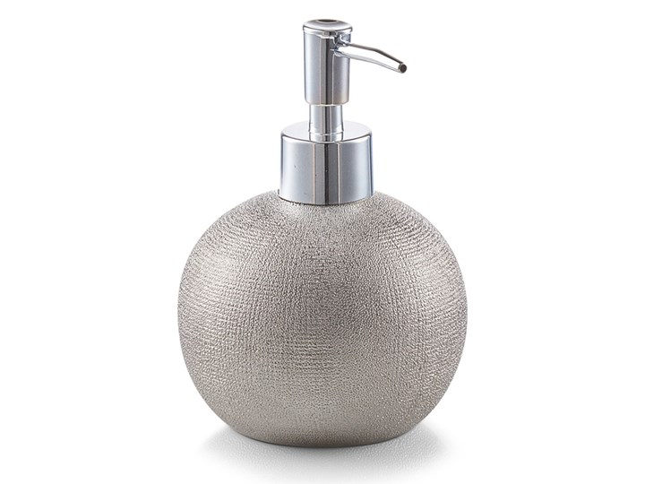 Dozownik do mydła GLITTER - kolor srebrny, ZELLER Dozowniki metal Styl klasyczny