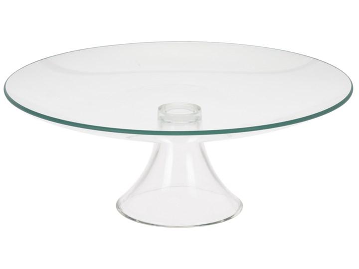 Szklana patera na słodycze, ciasta, owoce - 1 poziom Okrągłe szkło Styl klasyczny