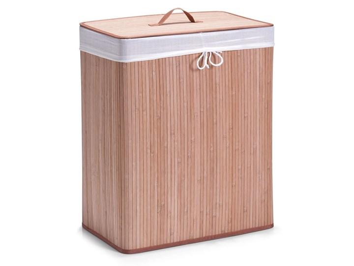 Bambusowy kosz na pranie, jasny brąz, 104 l,kolor jasnobrązowy, 2-komorowy ZELLER