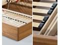 Ballega łóżko bukowe lewitujące 160x200 cm Łóżko drewniane drewno Rozmiar stelaża 165x209 cm