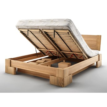 Vanes łóżko z pojemnikiem Mbox MINI, z drewna bukowego, rozmiar 160x200