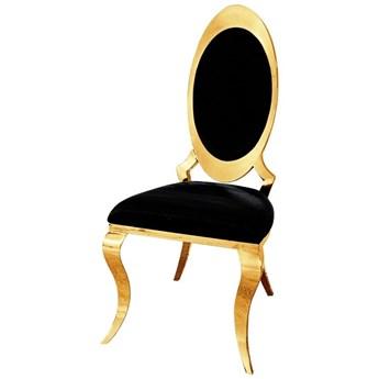 Krzesło Lucillo Glamur Black GOLD