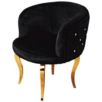 Fotel Cristall Glamur Black GOLD