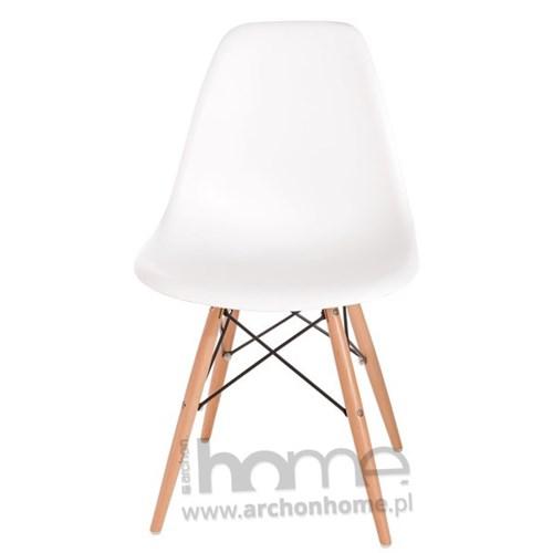 Krzesło Socrates białe drewniane nogi, archonhome.pl