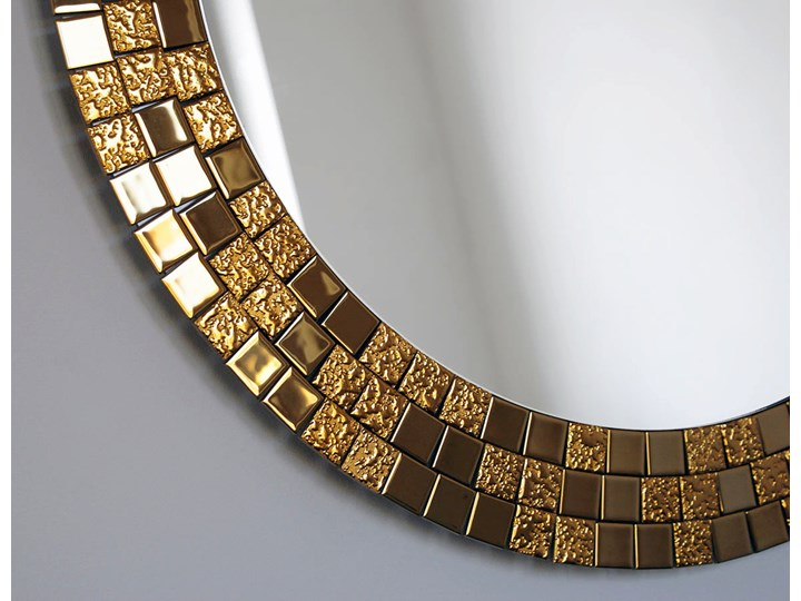 Lustro Aurea Gold Lustro z ramą Pomieszczenie Przedpokój Okrągłe Ścienne Pomieszczenie Łazienka