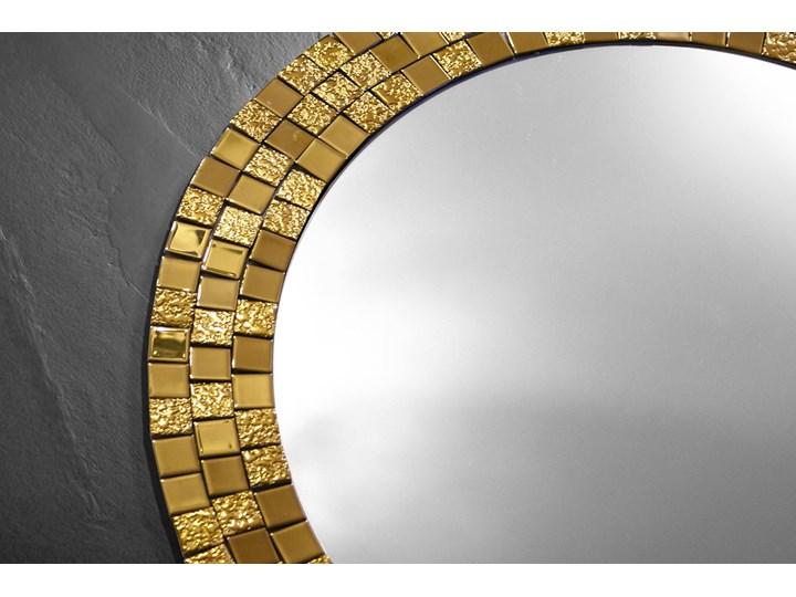 Lustro Aurea Gold Okrągłe Styl Nowoczesny Ścienne Lustro z ramą Pomieszczenie Sypialnia