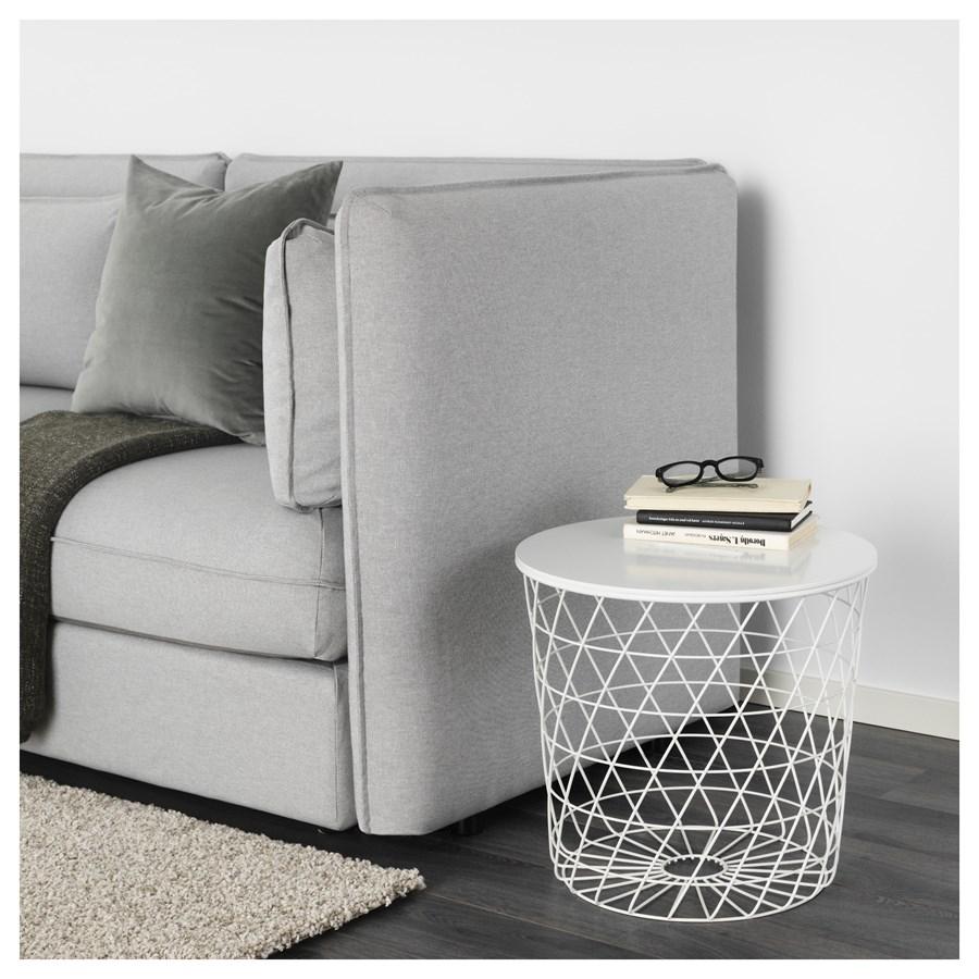Ikea kvistbro stolik z miejscem do przechowywania bia y - Tavolino contenitore ikea ...