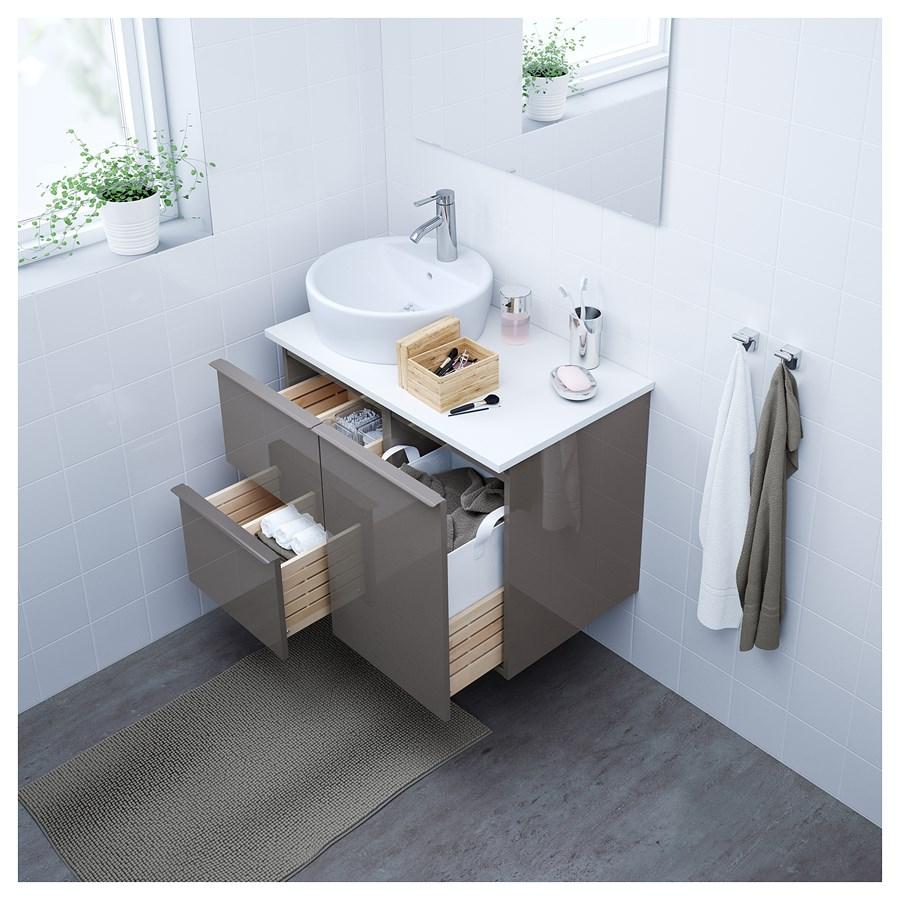 ikea godmorgon szafka na rzeczy do prania po ysk szary szafki i rega y podumywalkowe. Black Bedroom Furniture Sets. Home Design Ideas