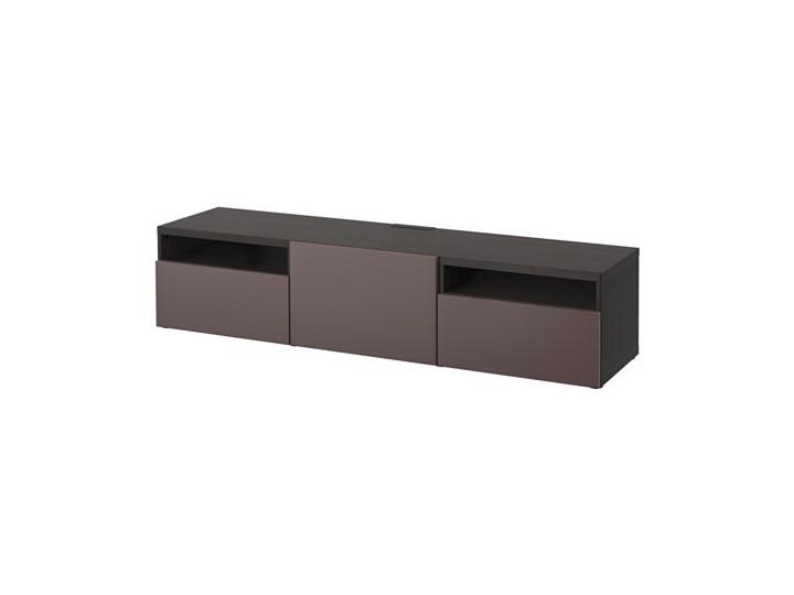 Ikea Bestå Szafka Pod Tv Czarnybrąz Valviken Ciemnobrązowy