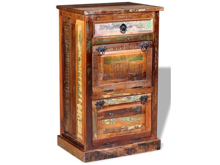 vidaXL Szafka na buty,  4-półki i szuflada, solidne drewno z odzysku Styl vintage Styl vintage