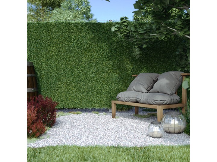 Mata Na Ogrodzenie Sztuczny Żywopłot, 100x300 cm Płotek ogrodowy Mata osłonowa