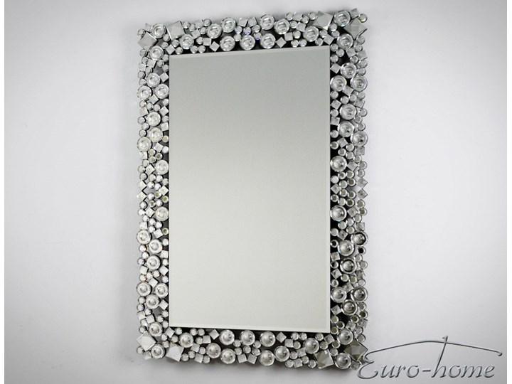 Lustro z kryształkami w stylu glamour  60 x 90 cm 13tm171PM Prostokątne Pomieszczenie Przedpokój Lustro z ramą Ścienne Pomieszczenie Garderoba