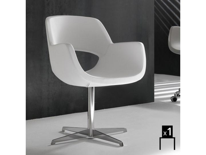 Krzesło Biurowe Białe Z Skóry Ekologicznej Michelle Krzesła I