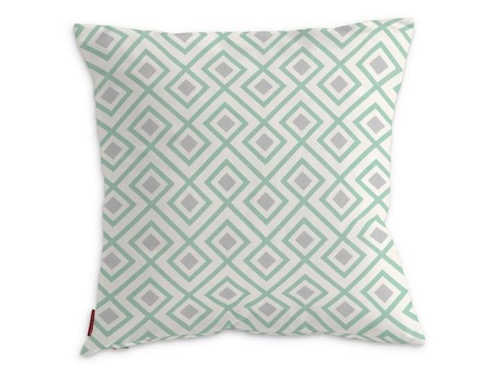 Dekoria Poszewka Kinga na poduszkę, szaro- miętowe romby na białym tle, 43 × 43 cm, Geometric