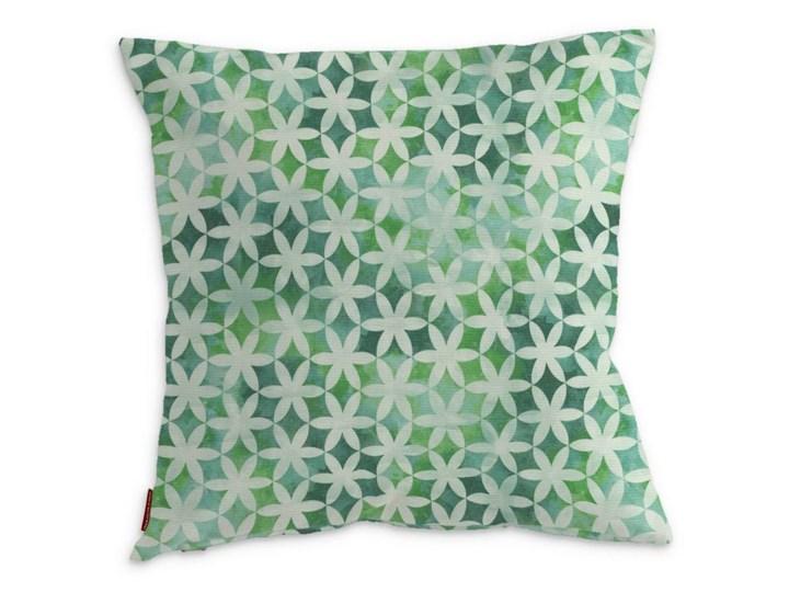 Dekoria Poszewka Kinga na poduszkę, kwiatki na cieniowanym zielonym tle, 43 × 43 cm, Urban Jungle