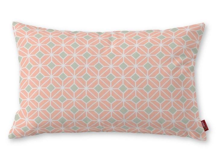 Dekoria Poszewka Kinga na poduszkę prostokątną, szare romby na łososiowym tle, 60 × 40 cm, Geometric