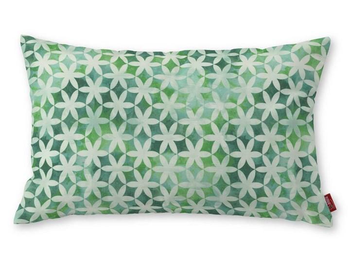 Dekoria Poszewka Kinga na poduszkę prostokątną, kwiatki na cieniowanym zielonym tle, 60 × 40 cm, Urban Jungle