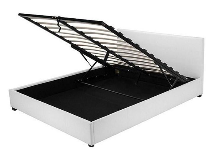 łóżko Białe Z Pojemnikiem Na Pościel 140x200 łóżka Do