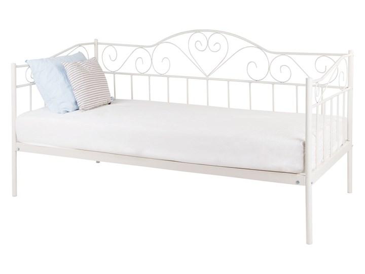 łóżko Metalowe 90x200 Białe Nowoczesne Proste łóżka