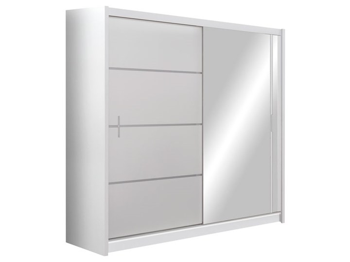 Szafa Vista 203 z lustrem - Ekspresowa Dostawa Szerokość 203 cm Głębokość 61 cm Wysokość 215 cm