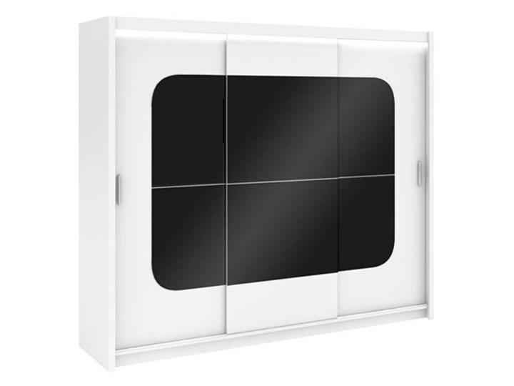 Szafa Barcelona z czarnym szkłem - Dostawa Gratis Głębokość 61 cm Szerokość 250 cm Wysokość 215 cm