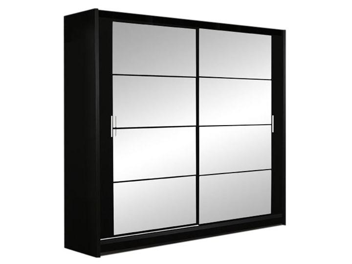 Czarna Szafa Dakota 160 z lustrami- Szybka Dostawa Szerokość 160 cm Głębokość 61 cm Wysokość 215 cm