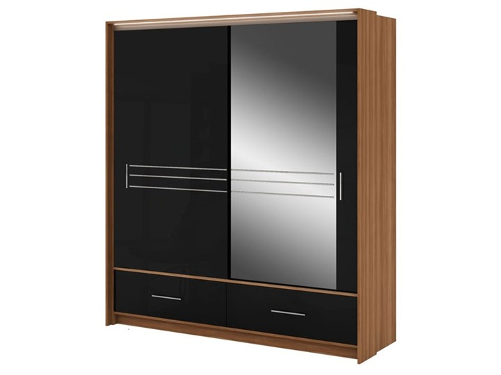 Szafa Amsterdam 203 z lustrem - Dostawa Gratis Głębokość 61 cm Szerokość 208 cm Wysokość 225 cm