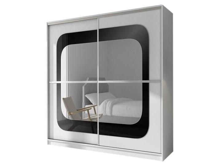 Szafa przesuwna Mediolan z lustrem- Dostawa Gratis Głębokość 61 cm Szerokość 203 cm Wysokość 215 cm Przesuwne