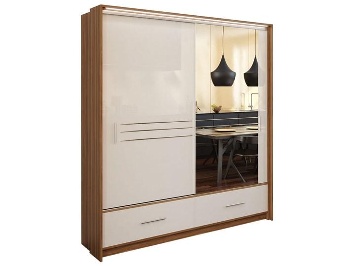 Szafa Amsterdam 203 z lustrem - Dostawa Gratis Szerokość 208 cm Głębokość 61 cm Wysokość 225 cm