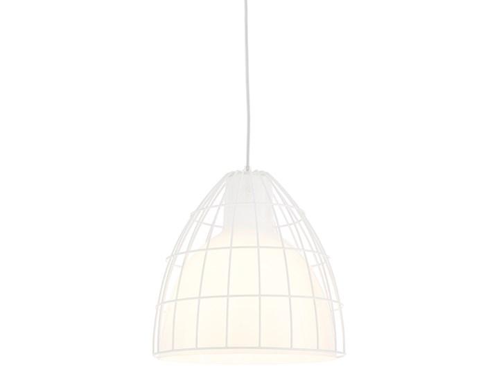 FRAME L lampa wisząca L 1 x 60W E27 ( biała z połyskiem, przewód biały) KASPA 10344101