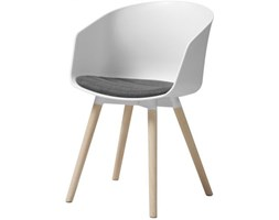 Krzesło Moon białe siedzisko antracytowe