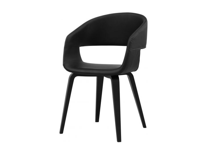 Krzesło Nova czarne ekoskóra nogi fornir topolabrzoza