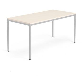 Stół MODULUS, 1600x800 mm, srebrny, brzoza