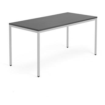 Stół MODULUS, 1600x800 mm, srebrny, czarny