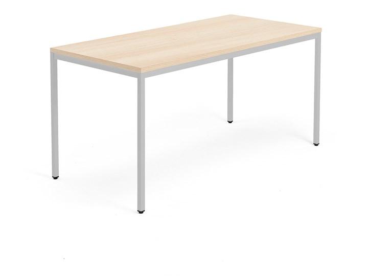 Stół MODULUS, 1600x800 mm, srebrny, dąb Pomieszczenie stoły biurowe Szerokość 80 cm Długość 160 cm  Drewno Pomieszczenie Stoły konferencyjne