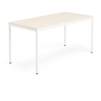 Stół MODULUS, 1600x800 mm, biały, brzoza