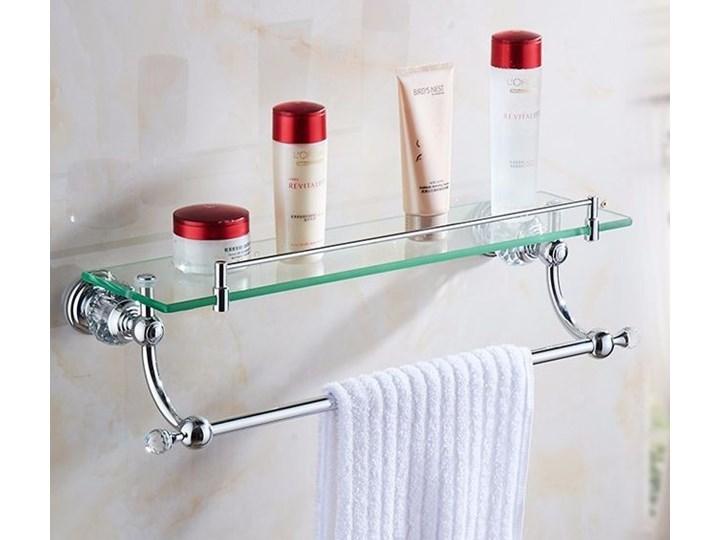 Szklana Półka Z Uchwytem Na Ręczniki