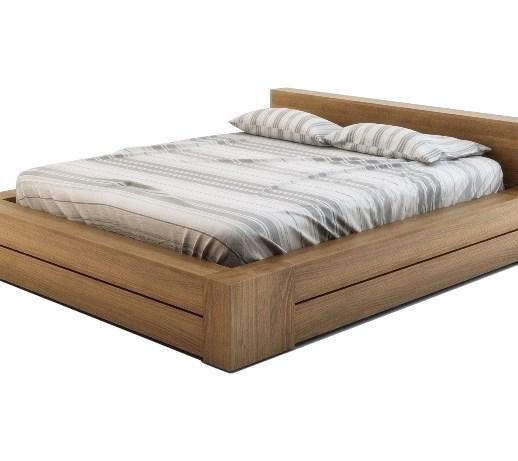 Kama łóżko Drewniane Z Buka 180x200