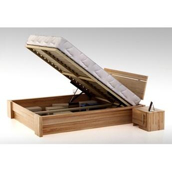 Uganda z pojemnikiem łóżko z drewna bukowego, rozmiar 160x200