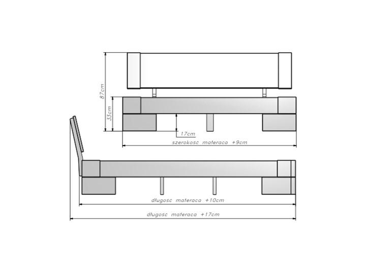 Bardzo dobryFantastyczny Vanes wysokie łóżko z drewna bukowego, rozmiar 180x200 - Łóżka do JU86