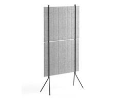 Ścianka podłogowa SPLIT, 800x1500 mm, jasnoszary