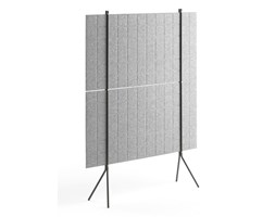 Ścianka podłogowa SPLIT, 1200x1500 mm, jasnoszary