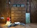 Drewniana komoda sosnowa Rustyk 5/6 tworzywo sztuczne Styl Klasyczny Drewno Szerokość 112 cm Wysokość 123 cm Z szufladami Głębokość 45 cm Styl Nowoczesny