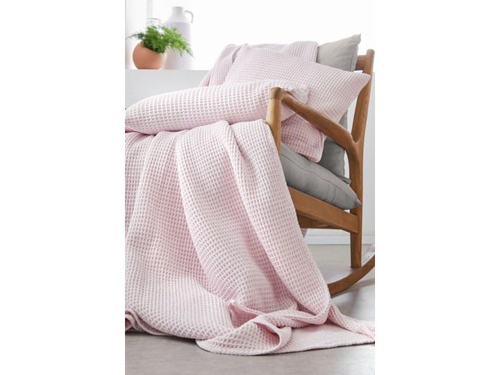 Narzuta Blanc Des Vosges - Electre Różowa 240x260 cm Bawełna tkanina 80x260 cm 180x260 cm Wzór Jednolity