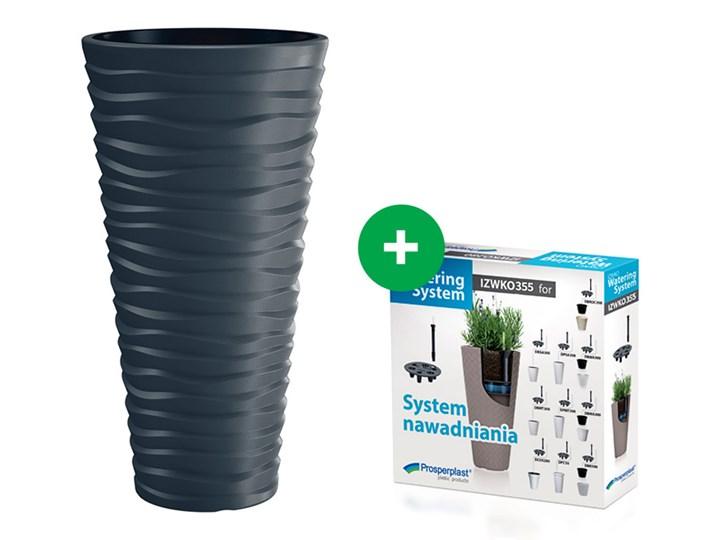 Doniczka Sand Slim DPSA400 Efekt 3D +wkład +system Plastik