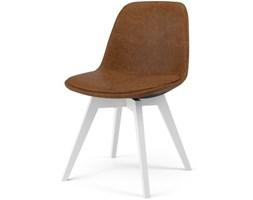 Krzesło Grace Bess brązowe nogi białe